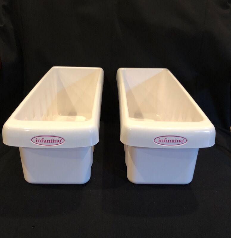 Infantino Fresh Squeezed Fridge Freezer Sleeve Storage Trays - 2 Trays Included