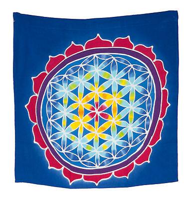 Batik Chakra Sri Yantra Hanging Cotton Handmade 50x50cm 6689 MH