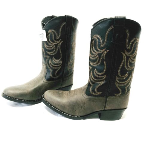 Smoky Mountain Youth Boys Monterey Western Cowboy Boots Brow