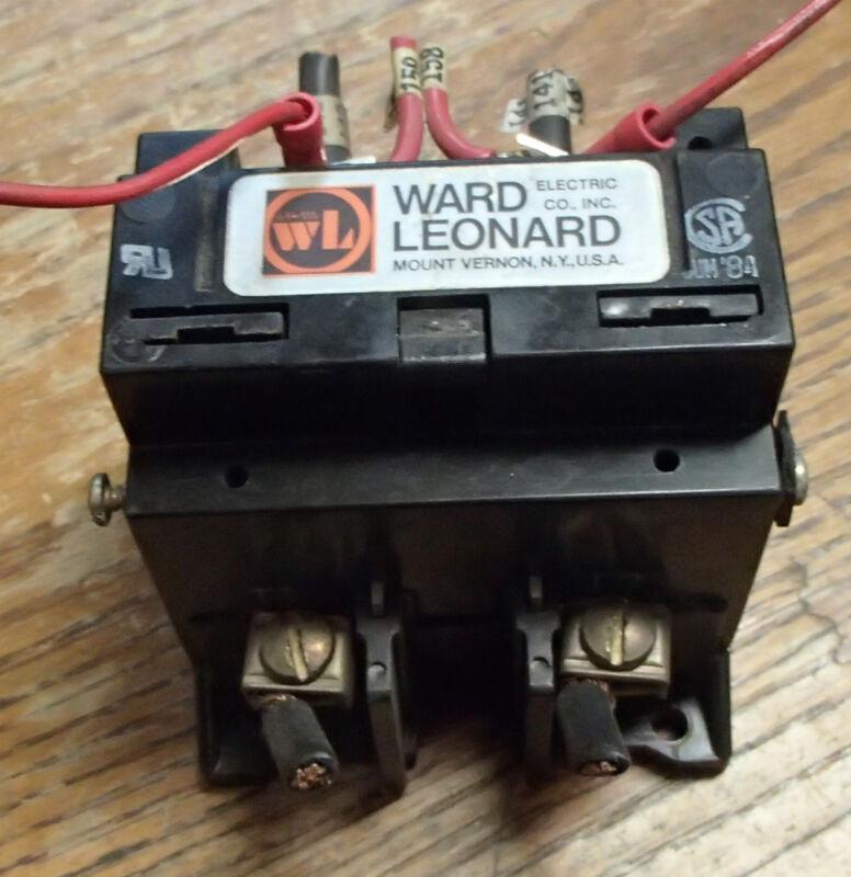 WARD LEONARD 7001-7030-11  2--POLE CONTACTOR 40 AMP 500 VDC