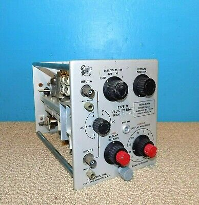 Tektronix Type D High-gain Differential Calibrated Dc Preamp Plug In Module