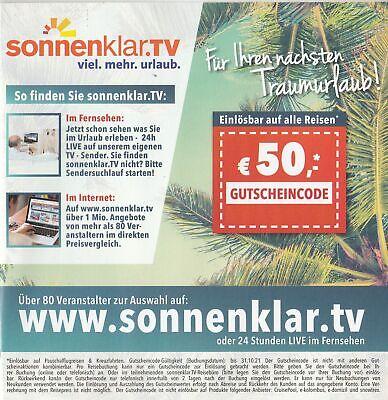 Gutschein 50 EUR sonnenklar.TV, gültig bis 31.10.2021