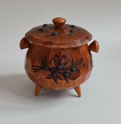 jewelry dish Vintage wooden trinket dish teak carved foot bowl human foot dish