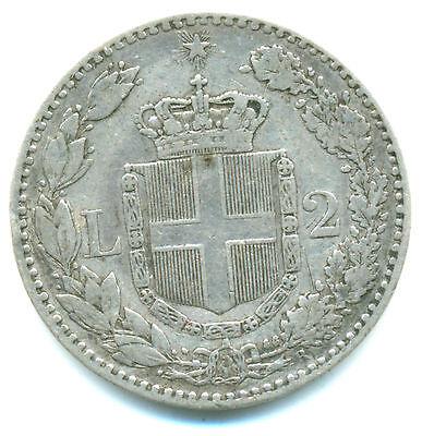 Italien-Regno, Umberto I., 2 Lire 1887 R