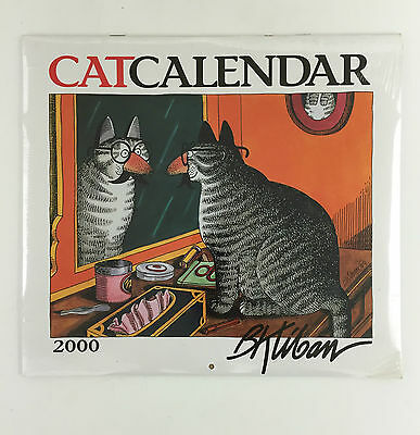 B Kliban CAT Calendar 2000 Wall size 13 x 12 - Full color - shrink Wrapped