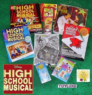 Disney HIGH SCHOOL MUSICAL Screamin Photo BUNDLE Set Pillow Book Games EXCLUSIVE