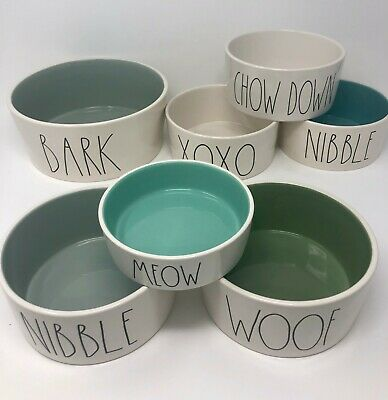 Rae Dunn Artisan Collection By Magenta Pottery Pet Bowls CAT/DOG SEVERAL -