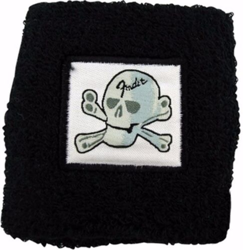 New-Fender Skull and Crossbones design  terrycloth Wristband/ one size fits all