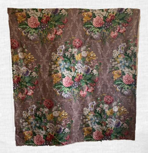 Beautiful Rare 20th Century French Printed Linen Floral (2224)