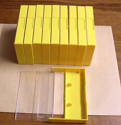 10 Kassettenhüllen Leerhüllen für Cassetten MCs Hüllen gelb Kassetten Neu