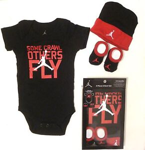 Nike Air Jordan Boys Infant 3 Piece Set Baby Outfit