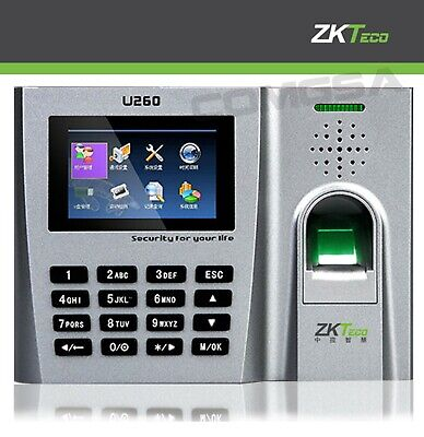 Zkteco U260 Fingerprint Biometric Time Clock Support Of Cards And Codecs Zk