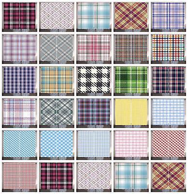 Retro Checkered Curtains 2 Panel Set Decor 5 Sizes Available Window - Retro Window