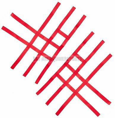 Nerf Bar Nets for Tusk Alba 757 Titan Fits Honda Yamaha Suzuki Kawasaki Red