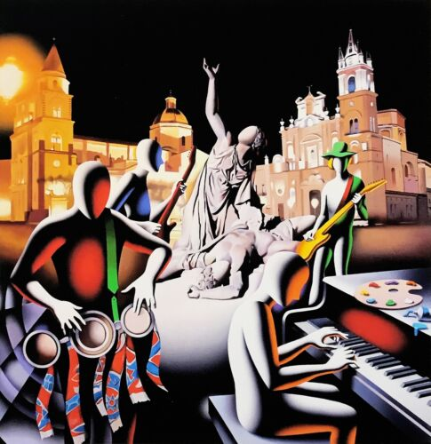 "Mark Kostabi ""the First Set Was In Stone"" 2014 