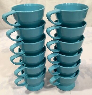 Lot of 12 Vintage Light Blue SOLO Cozy Cup Holders - Mid-Century Modern Kitsch (Light Blue Solo Cups)