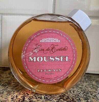 VINTAGE LEGRAIN Paris MOUSSEL Perfume EDT HUGE BOTTLE DISCONTINUED NICHE RARE
