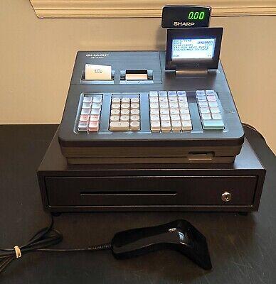 Sharp Cash Register Xe-a507 Dual Thermal Print Display Barcode Scanner No Keys
