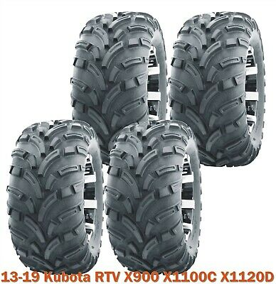 25x10-12 Full Set WANDA Lit Mud ATV Tire fit 13-19 Kubota RTV X900 X1100C X1120D