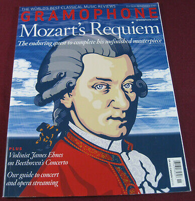 Gramophone Magazine November 2017, Mozart's Requiem, 138 Pages, $10.50 Cover,New