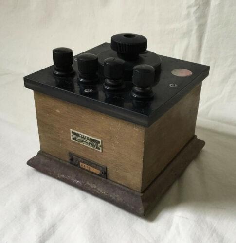 Rubicon Company Variable Resistor antique decade resistance box wood & bakelite