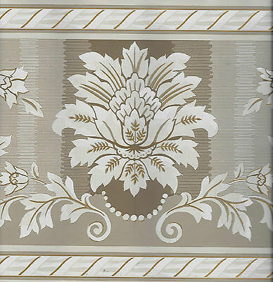 BEIGE AND BROWN VICTORIAN ARCHITECTURAL WALLPAPER BORDER