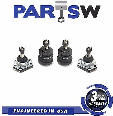 4 Pc New Suspension Kit for Buick Cadillac Chevy GMC Upper & Lower Ball Joints