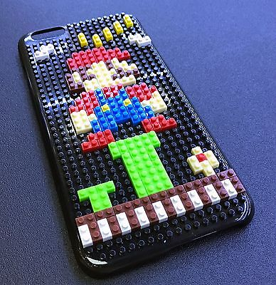 BLACK LEGO TOY BLOCKS HARD PLASTIC SKIN CASE COVER APPLE IPHONE X 10 - MARIO for sale  Shipping to India
