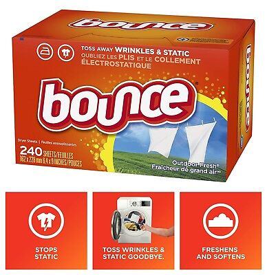 Bounce Outdoor Fresh Fabric Softener and Dryer Sheets 240-Count Box