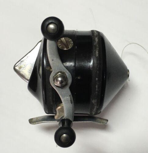 "Vintage Zebco 33 ""Spinner"" Black & Chrome Brass Gears Spincast Reel"