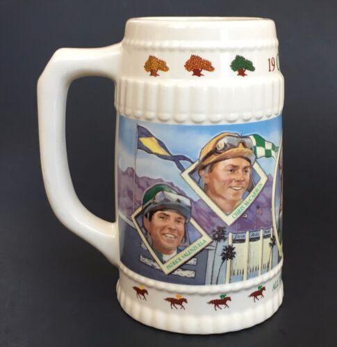 1989 Oak Tree Stein Limited Edition Horse Racing Jockey Shoemaker Beer Mug