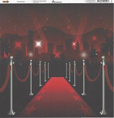 Reminisce - Red Carpet Scrapbooking Paper - Las Vegas, Gambling, Drama](Red Paper)