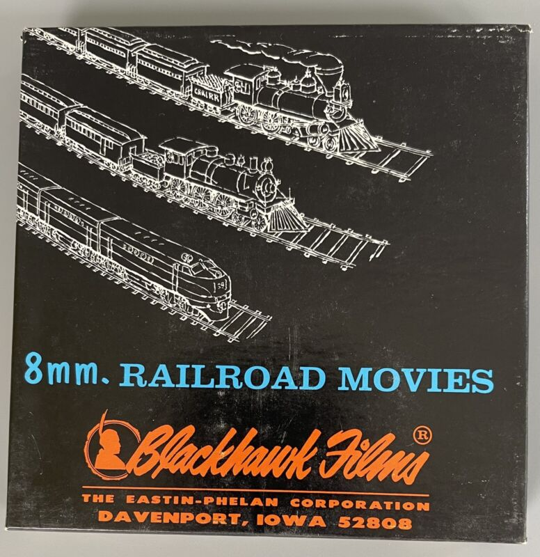 VTG 8MM Railroad Movies Blackhawk Films RIDE BEHIND STEAM No. 832-35