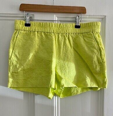 *Great Condition* J CREW Neon Green Shorts, Size US 4, UK 8, 100% Cotton