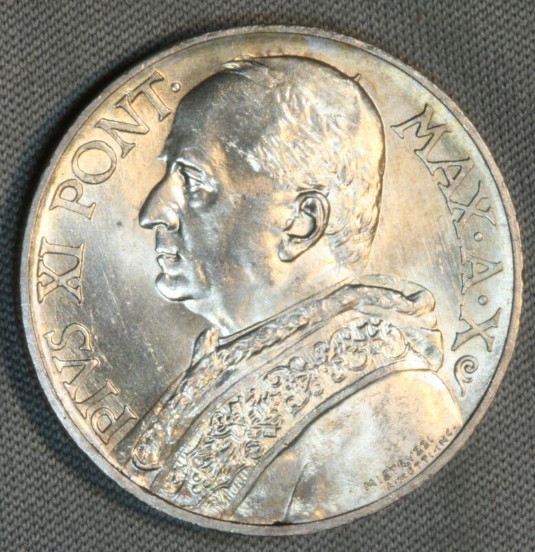 1931 Vatican City 10 Lire Lira BU UNC Italy World Foreign SK303