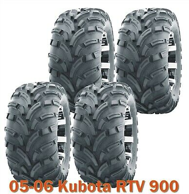 25x10-12 Complete Set WANDA Lit Mud ATV Tires fit 05-06 Kubota RTV 900