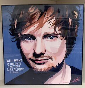 Ed Sheeran wall art canvas