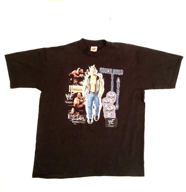 Vintage 2X Wrestling Shirt Stone Cold Steve Austin WWE WWF T-Shirt