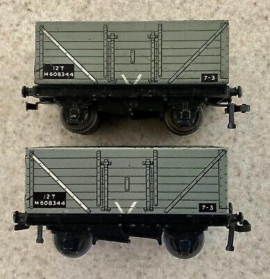 2 x Hornby Dublo BR High Sided Wagons