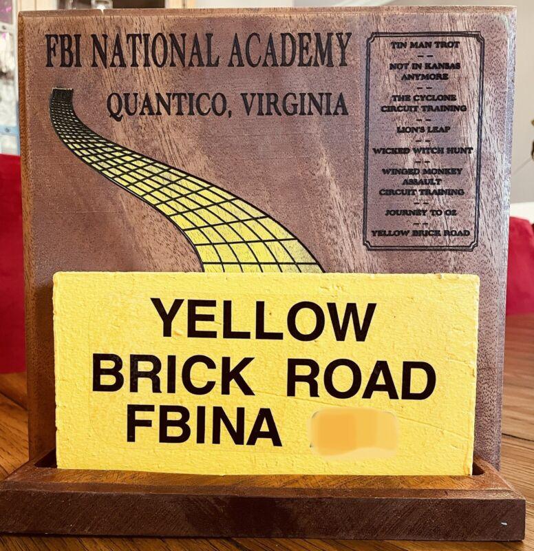 FBI National Academy Yellow Brick Road Plaque Solid Cherry FBINA