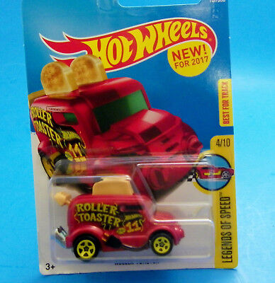 Hot Wheels 2017 Legends Of Speed ROLLER TOASTER and TOAST Best For Track FUN