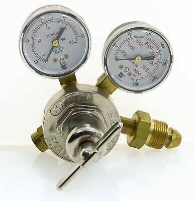Miller Smith 31-50-580 Argon Co2 Single Stage Flow Gauge Regulator Wcga 580