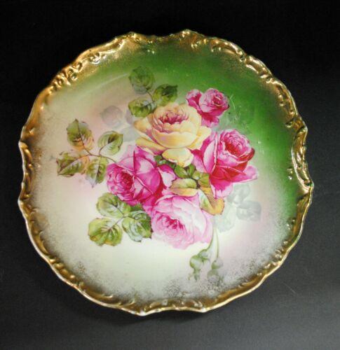 "Wheelock Antique Plates, Set of three, Floral, Vintage, 9.5"""