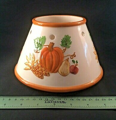 Yankee Candle Shade Autumn Harvest Scene Pumpkin Colorful Corn Fall Thanksgiving