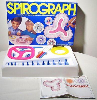 - Vintage 1986 Spirograph Design Drawing Pattern Tool Set Art Toy Game Kenner