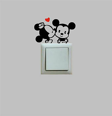 PEGATINA - STICKER - Mickey & Minnie Beso - Light switch -VINIL-...