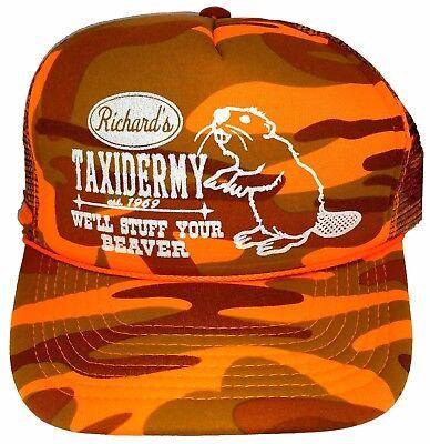 Richard's Taxidermy Stuff Beaver Camouflage Camo Mesh Trucker Hat Cap Snapback O](Camo Stuff)