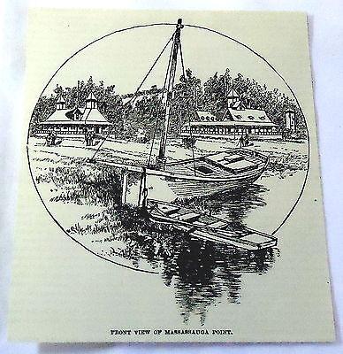 1886 Magazine Engraving  Massassauga Point  Presque Isle Bay  Pa   Sail Boat