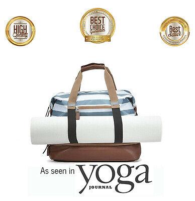 Yoga Mat Bag Exercise Zip Canvas Leather Bag Yoga Pilates Sling Carry Bag, NEW