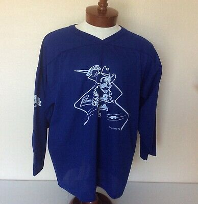 VTG CCM Air Knit Crystal ICE Palace Blue Club Hockey Jersey Polyester Mesh XL